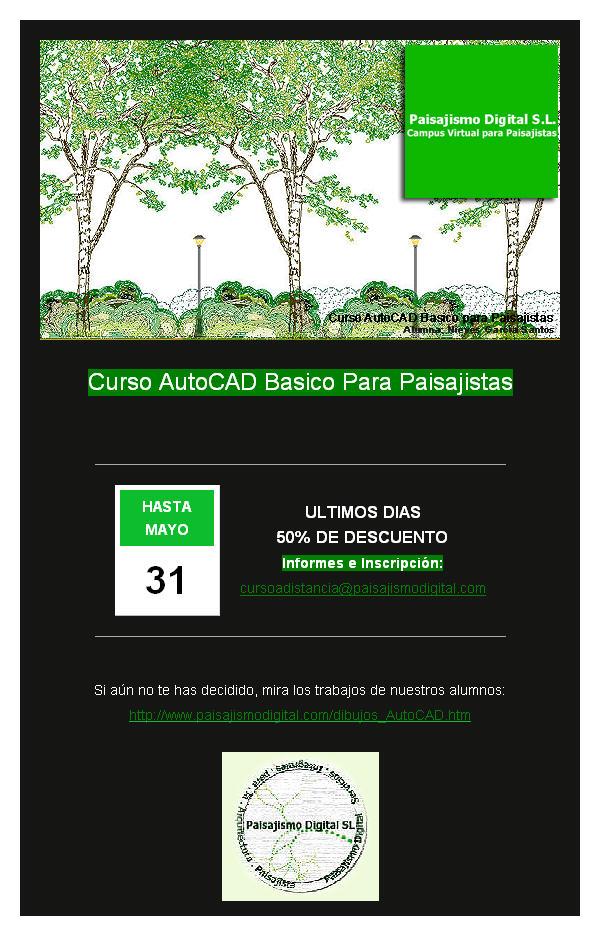 Curso Online AutoCAD Basico para Paisajistas