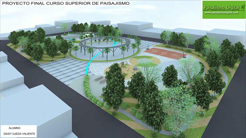 CURSO SUPERIOR DE PAISAJISMO: Proyecto Final realizado por la alumna Daysi Ojeda