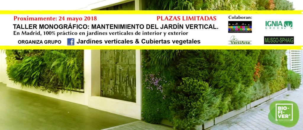 Taller Monográfico Mantenimiento del Jardín Vertical