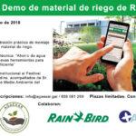 AGAEXAR organiza una Jornada-Demo de material de riego de Rain Bird