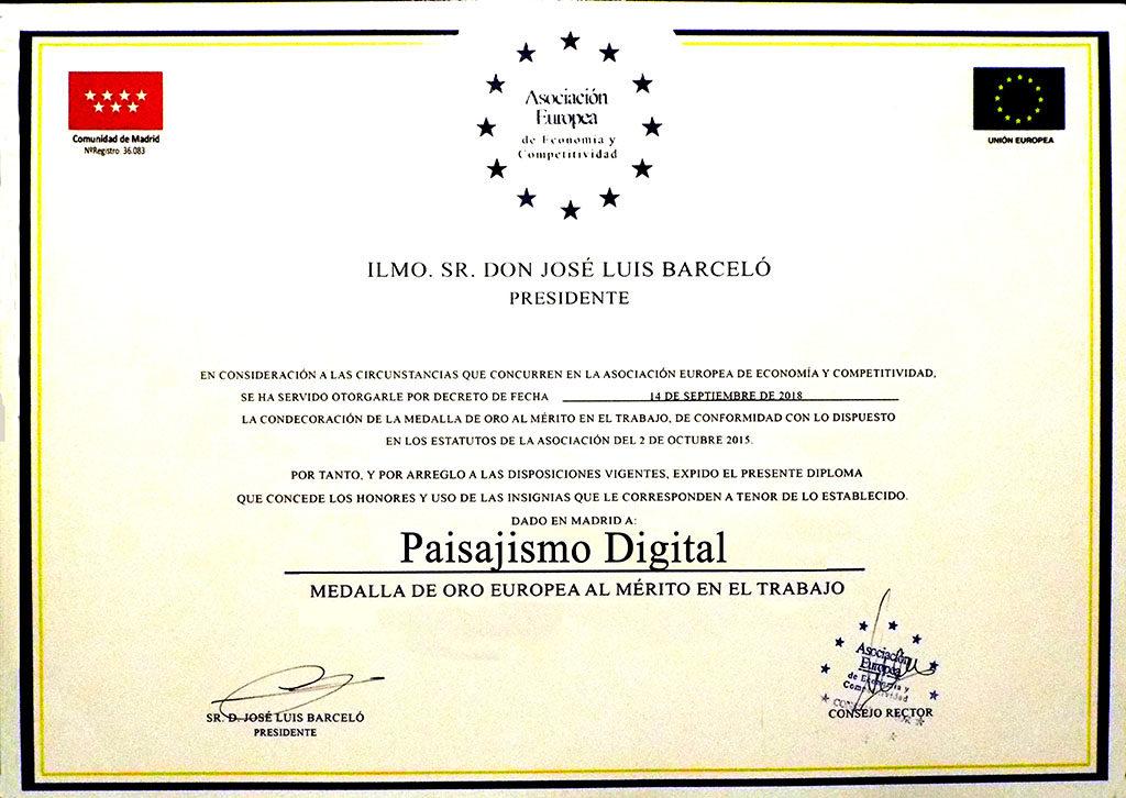 Medalla de Oro Europea al Mérito en el Trabajo