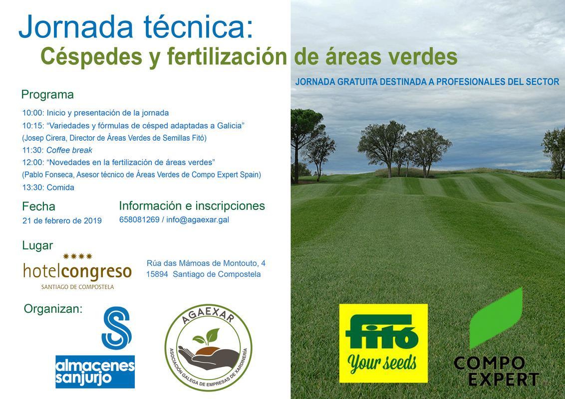 Céspedes y fertilización de áreas verdes