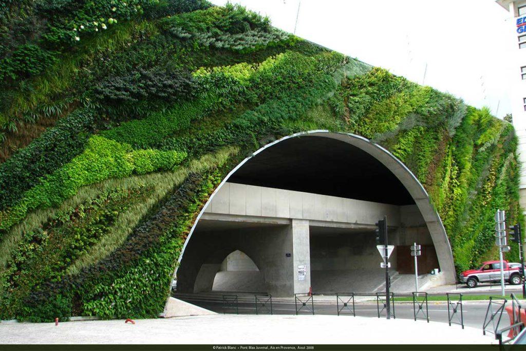 Jardines verticales de España y Europa (Jardín del Puente Max Juvenal, en Aix-en-Provence)