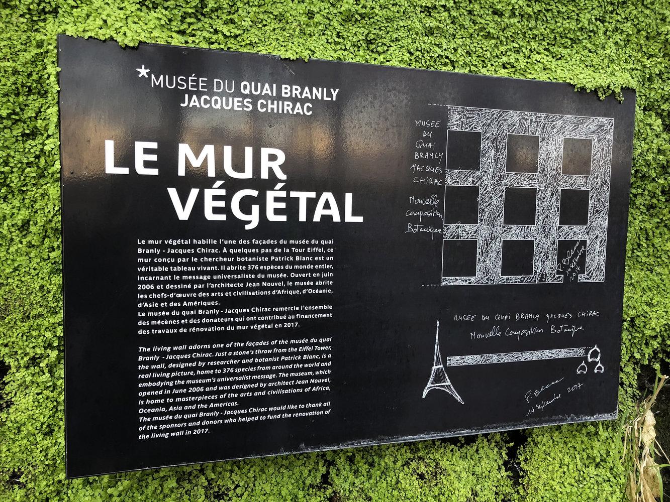 Jardín vertical del Museo Quai Branly de París - Noticias de ...