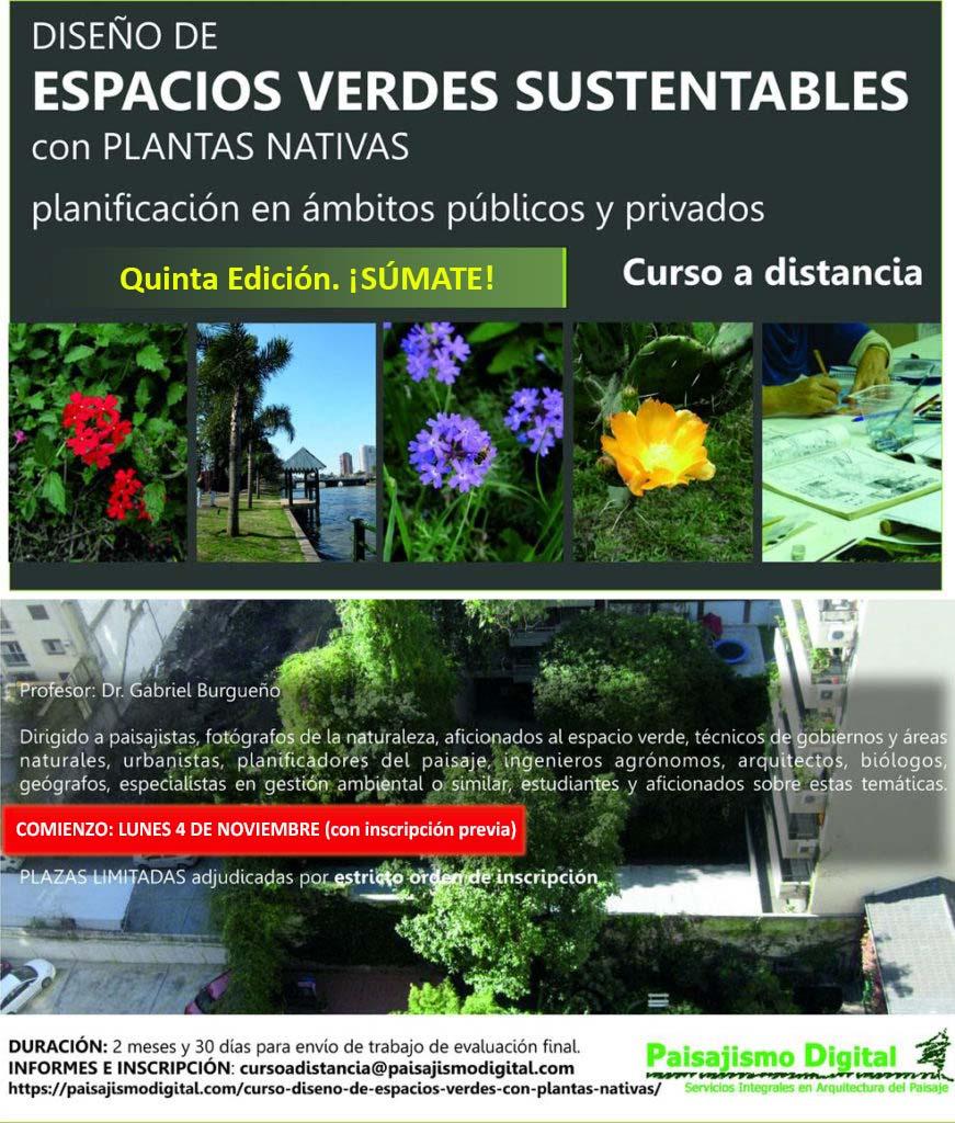 Curso online Diseño de Espacios Verdes Sustentables con Plantas Nativas: ¡Quinta edición!