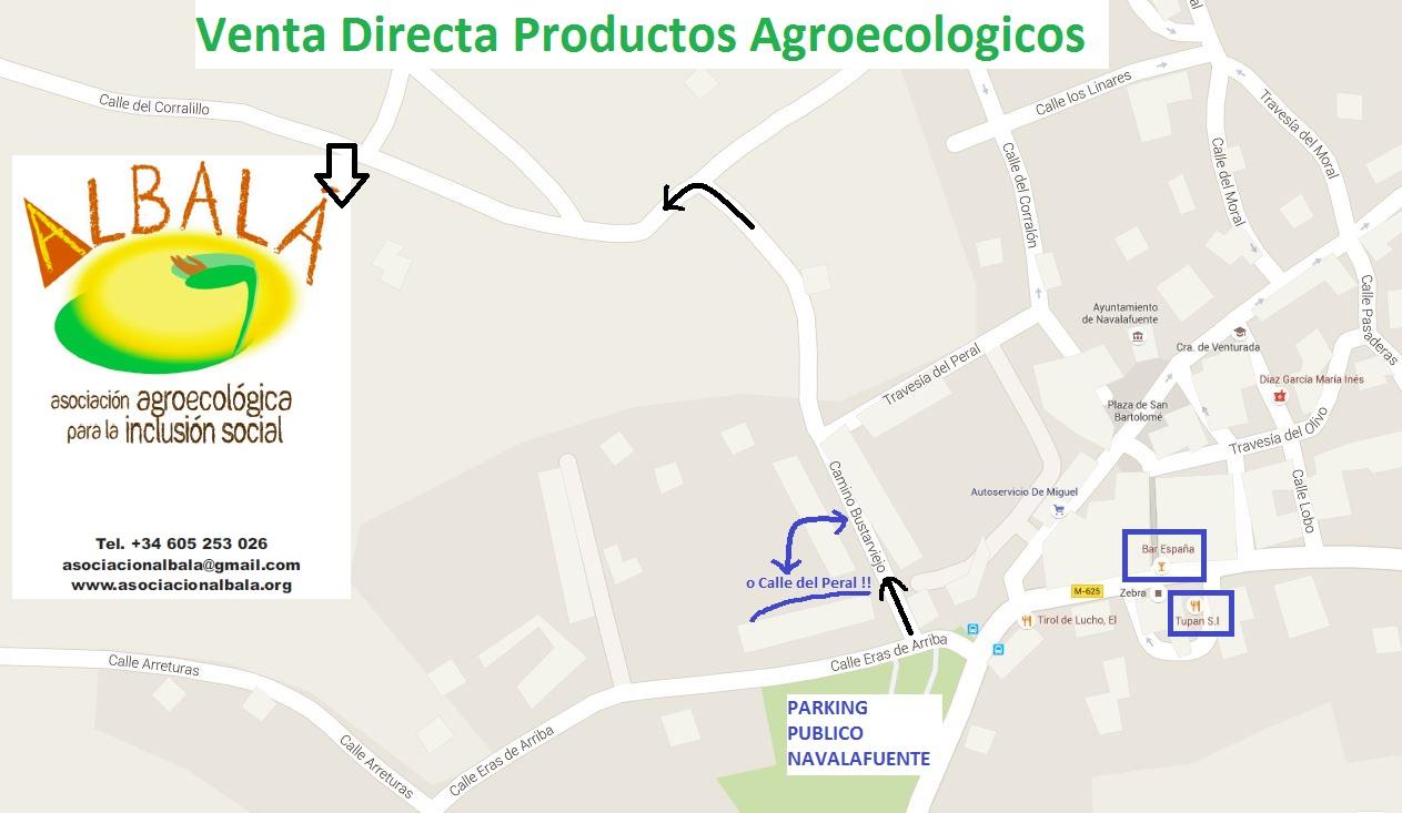 Mapa Asociación Agroecológica Albalá
