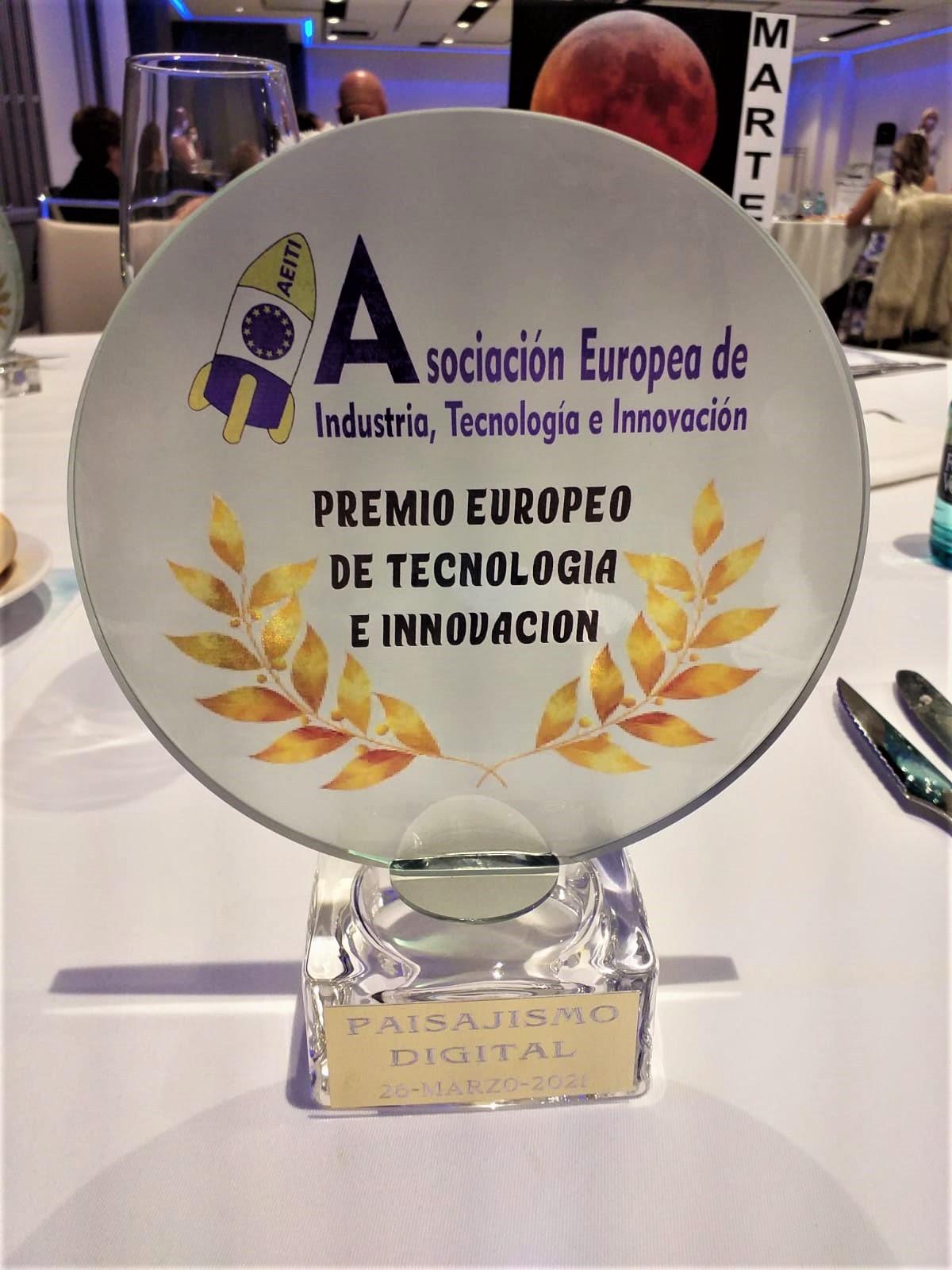 Premio Europeo a la Tecnología e Innovación - Paisajismo Digital