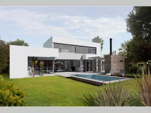 Jardin privado en quilmes buenos aires paisajismo digital for Casa minimalista quilmes