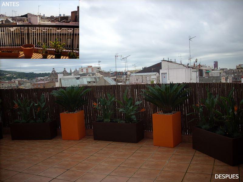 Terraza en atico de barcelona paisajismo digital - Atico terraza barcelona ...