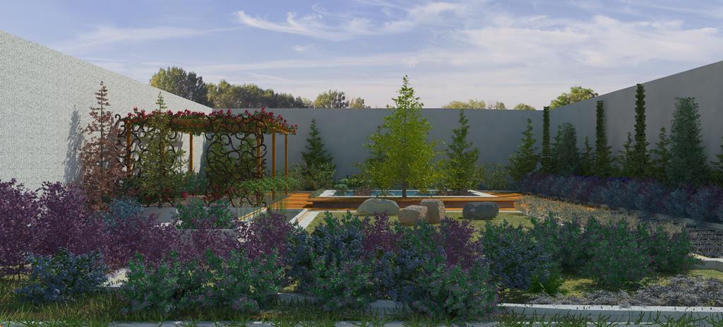 Dise os realizados con lands design jardin minimalista for Diseno de jardines y exteriores 3d gratis