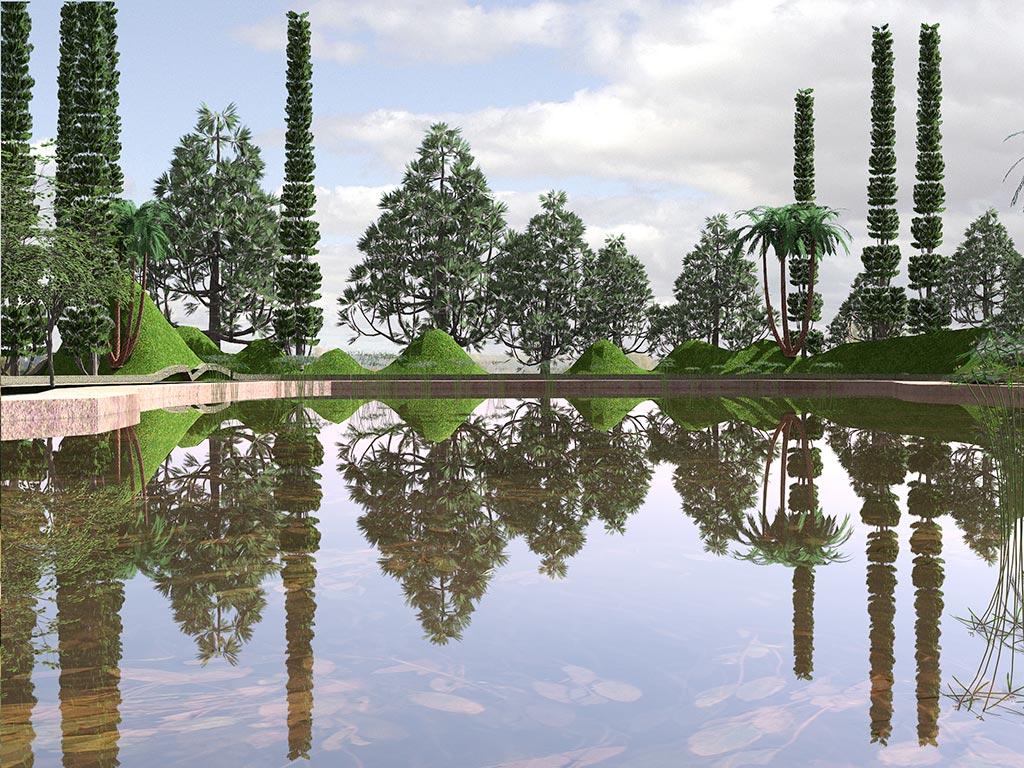 Dise os realizados con lands design parque del canal for Paisajismo barcelona