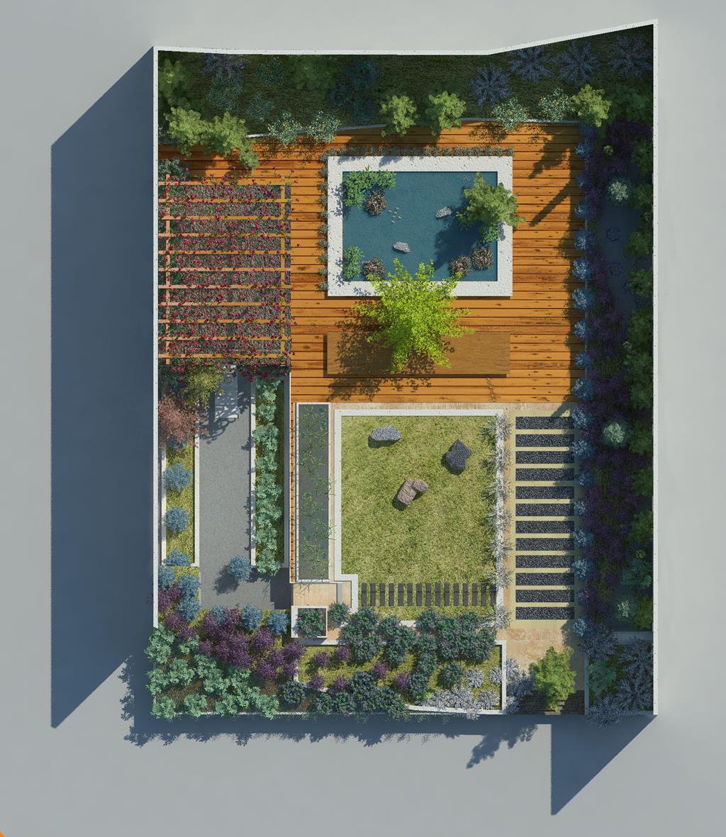 Dise os realizados con lands design jardin minimalista - Paisajismo minimalista ...
