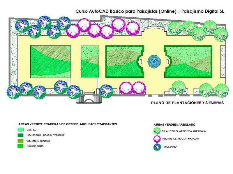 curso autocad básico para paisajistas